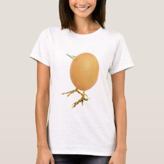 Chicken egg as bird with beak and legs T-Shirt