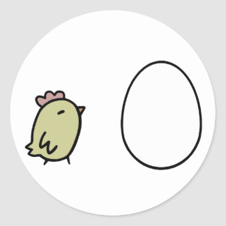 Chicken & Egg Classic Round Sticker