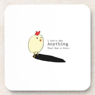 Chicken Egg Vegetarian s I Don't Eat Anythings Coaster