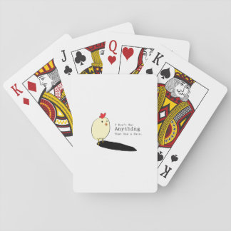 Chicken Egg Vegetarian s I Don't Eat Anythings Playing Cards