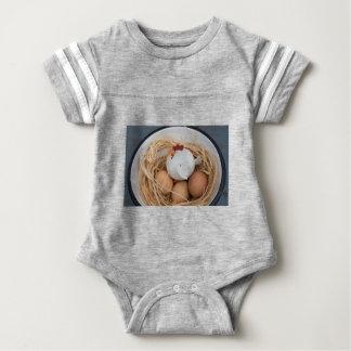 Chicken & eggs baby bodysuit