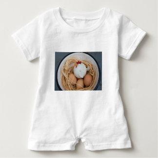 Chicken & eggs baby romper