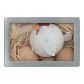 Chicken & eggs belt buckle