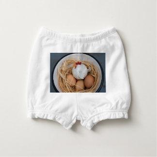Chicken & eggs diaper cover