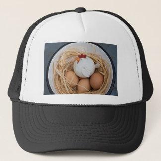 Chicken & eggs trucker hat