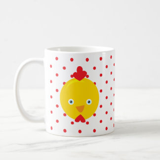 Chicken Face Farm Animal Dot Morning Sunshine Mug