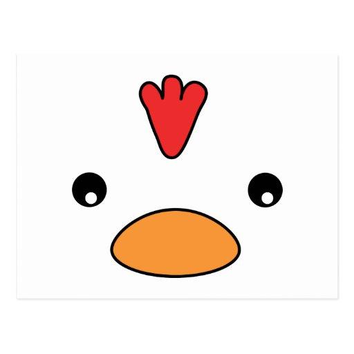 Chicken Face Postcard