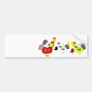 Chicken Family Bumper Sticker