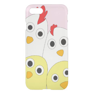 Chicken Family Pink Background iPhone 8/7 Case