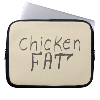 chicken fat laptop sleeve