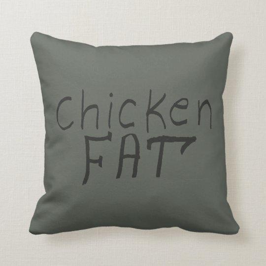 chicken fat throw pillow