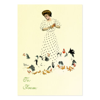 Chicken Feeding Gift Card Large Business Card