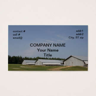 chicken growing house business card