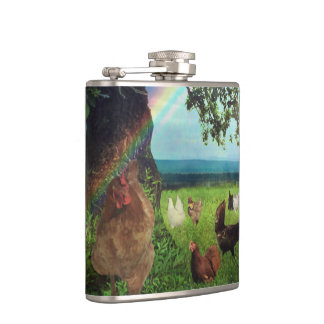 Chicken Heaven Hip Flask