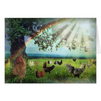 Chicken Heaven Sympathy Card