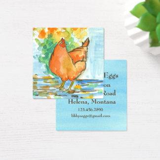 Chicken Hen Farm Fresh Eggs Square Business Card