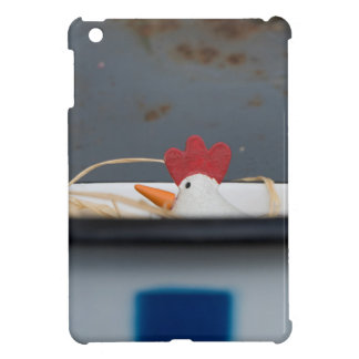Chicken in a checkered bowl iPad mini case