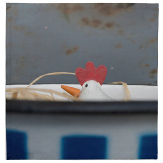 Chicken in a checkered bowl napkin
