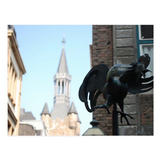 Chicken in Aachen Postcard