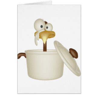 Chicken In Soup Card