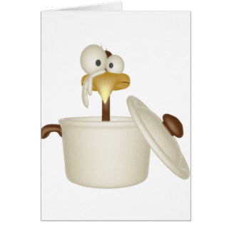 Chicken In Soup Greeting Card