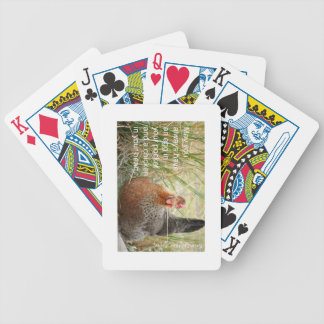 chicken in your heart bicycle playing cards