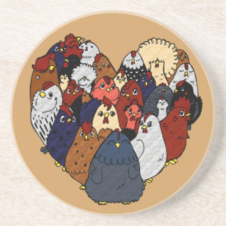 Chicken Love Coaster