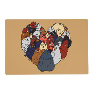 Chicken Love Laminated Place Mat