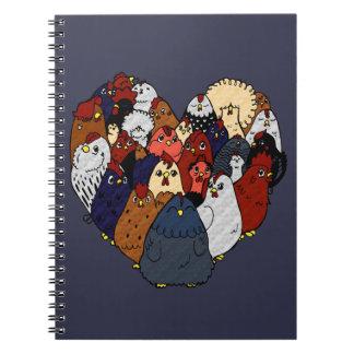 Chicken Love Spiral Notebook