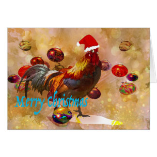 Chicken lovers Christmas Card