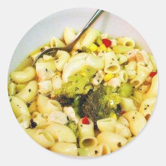Chicken Noodles Soup Round Sticker