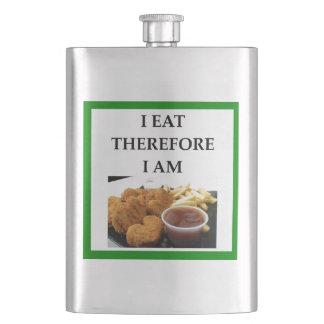 chicken nuggets hip flask