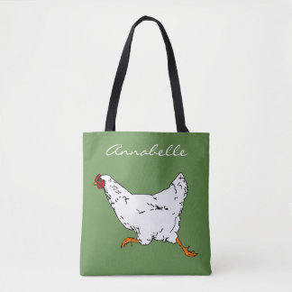 Chicken on the Go Tote Bag