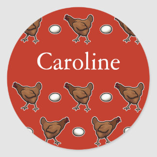 Chicken or the Egg, Add Your Name Classic Round Sticker
