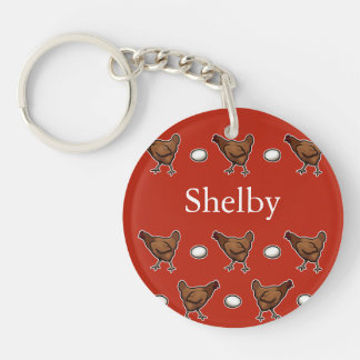 Chicken or the Egg, Add Your Name Keychain
