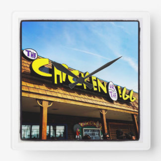 Chicken or the Egg (Chegg) LBI, New Jersey Square Wall Clock