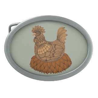 Chicken Oval Belt Buckle