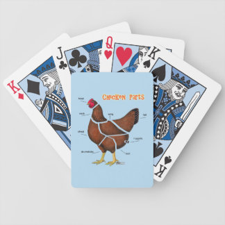 Chicken Parts Bicycle Playing Cards