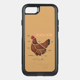 Chicken Parts OtterBox Commuter iPhone 8/7 Case