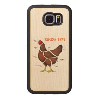 Chicken Parts Wood Phone Case
