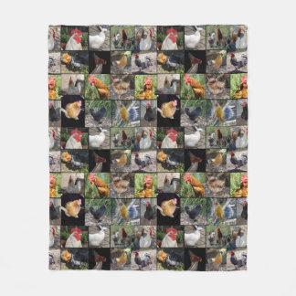 Chicken Photo Collage, Medium Fleece Blanket