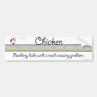 Chicken Picture Bumper Sticker