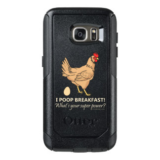 Chicken Poops Breakfast Funny Design OtterBox Samsung Galaxy S7 Case