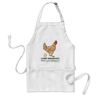 Chicken Poops Breakfast Funny Design Standard Apron