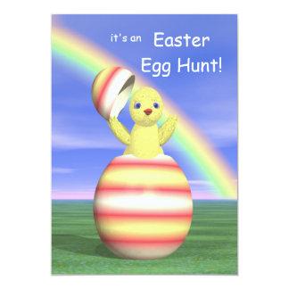 Chicken Pop-up Easter Egg Hunt Card