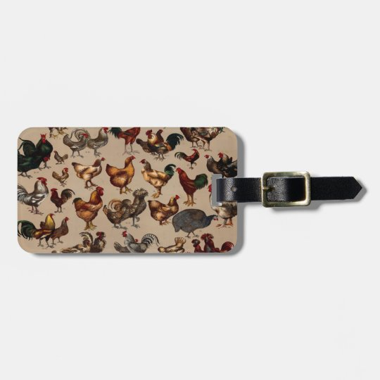 Chicken Poultry Of The World Luggage Tag