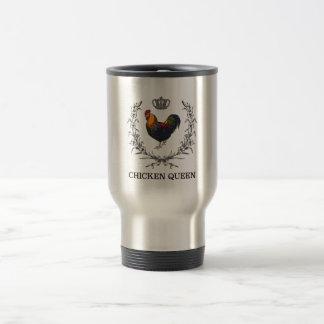 Chicken Queen Travel Mug by Fluffy Layers
