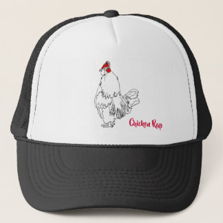 Chicken Rap Funny Music Quirky Drawing Design Trucker Hat