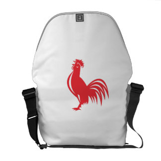 Chicken Rooster Crowing Retro Courier Bags