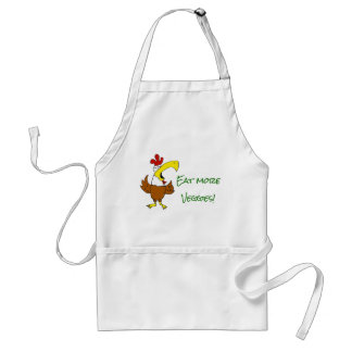 Chicken Says Eat More Veggies Standard Apron